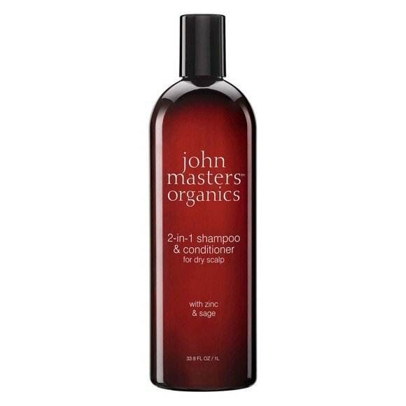 John Masters Organics - 2-in-1 Shampoo & Conditioner for Dry Scalp w. Zinc & Sage 1000 ml