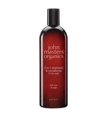 John Masters Organics - 2-in-1 Shampoo & Conditioner til Tør Hår m. Zinc & Sage 1000 ml