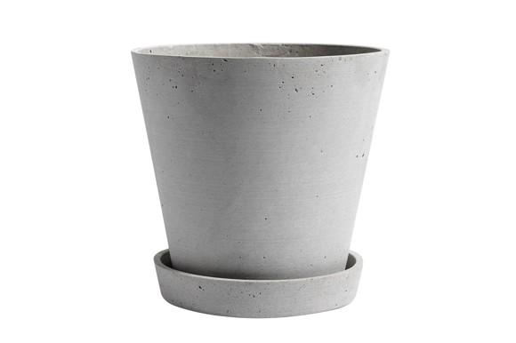 HAY - Flowerpot w/saucer XL - Grey
