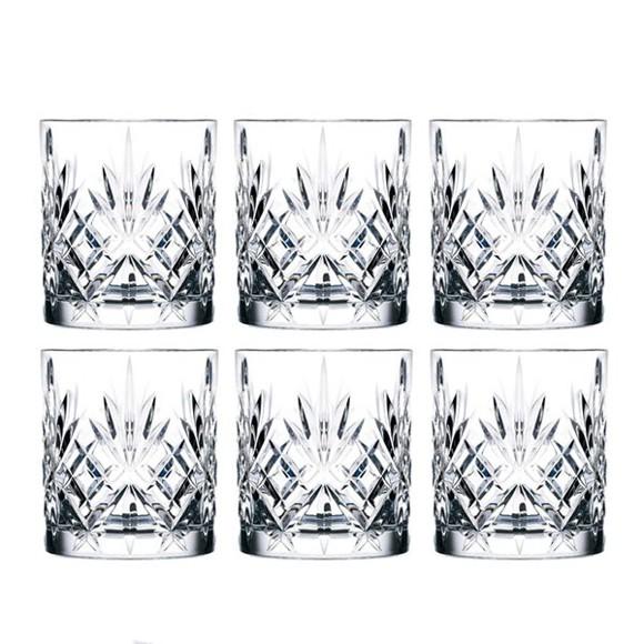 Lyngby Glas - Lyngby Krystal Melodia Whiskey  Glas 31 cl - Sæt á 6