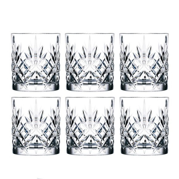 Lyngby Glas - Lyngby Krystal Melodia Whisky Glass 31 cl - Set of 6 (916107)