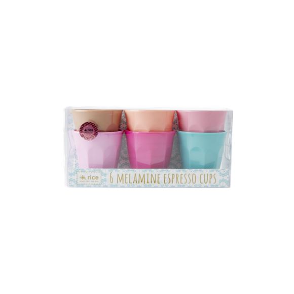 Rice - 6 Melamine Espresso Cups - LBC