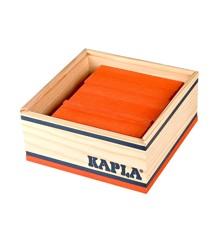 Kapla - Orangefarbene Steine - 40 Stück