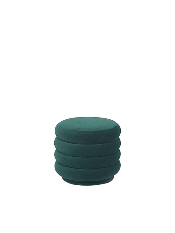 Ferm Living - Pouf Round Small - Dark Green (9450)