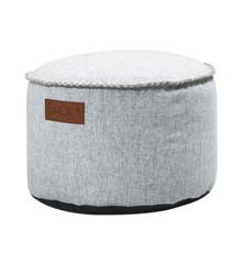 SACKit - RETROit Cobana Drum Puf - Hvid (Kan bruges udendørs)