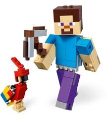 LEGO Minecraft - Minecraft stor Steve-figur med papegøje (21148)