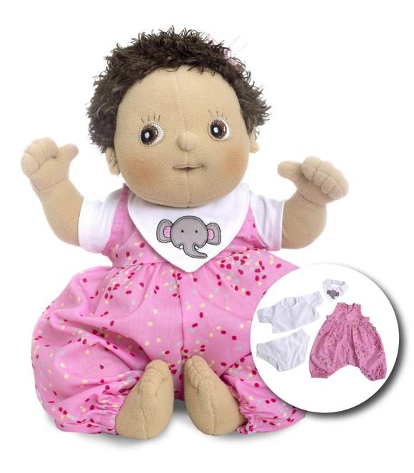 Rubens Barn - Rubens Baby dukke med ble - Molly (120094)