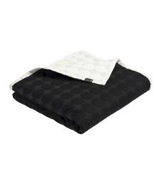 HAY - Mega Dot Quilt Bedcover 260 x 260 cm - Black/Cream (508112)