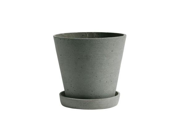 HAY - Flowerpot w/saucer Large - Green