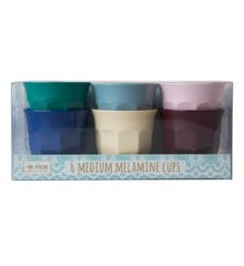 Rice - Medium Melamine Cups 6 Pcs - Urban Colors
