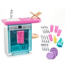 Barbie - Indendørs Møbler - Køkken og Opvaskemaskine Legesæt (FXG35)