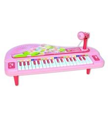 Bontempi - Lille piano med mikrofon og Lys effekt (40102071)