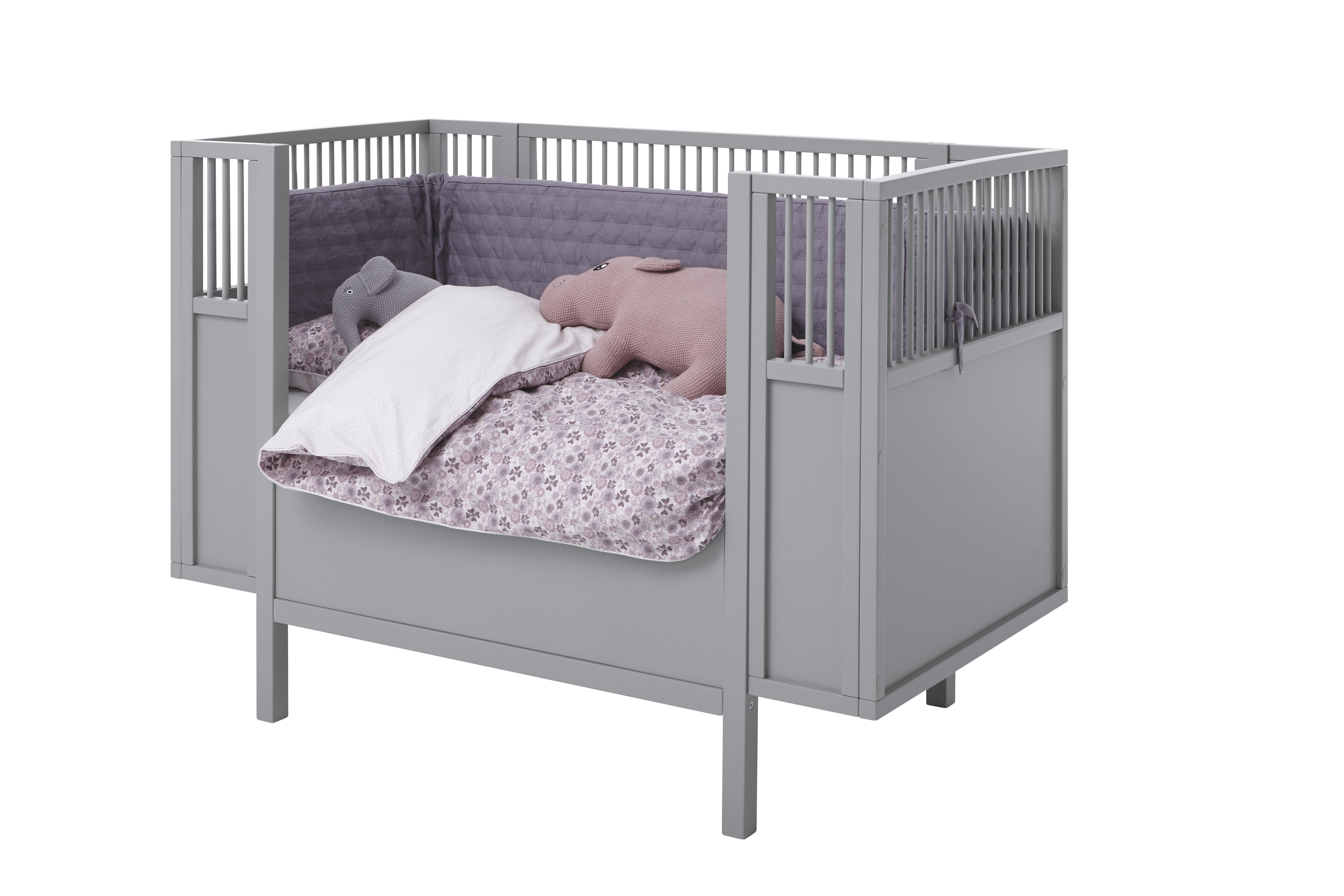 Buy Smallstuff - Rosaline Baby Bed 60 x 120 cm - Grey