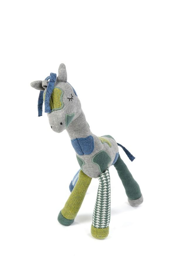 Smallstuff - Large Activity Toy - Petrol/Grey Giraffe