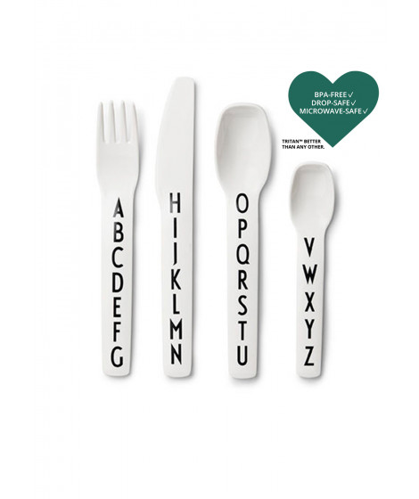 Design Letters - Kids Cutlery - White (20201301WHITE)