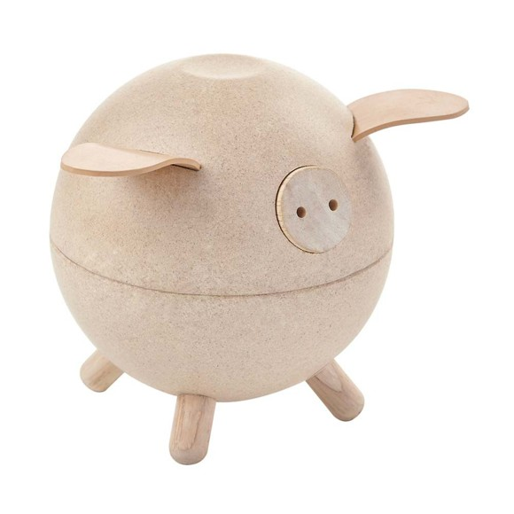 PlanToys - Piggy bank, White (8611)