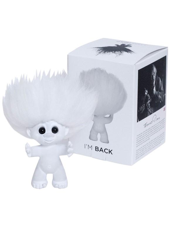 Good Luck Troll - Gjøl Troll 12 cm. - White/White