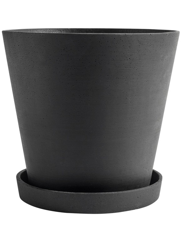 HAY - Flowerpot m/skål XXXL - Sort