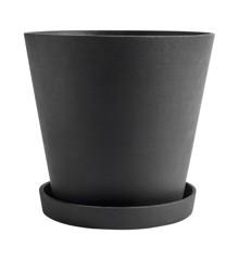 HAY - Flowerpot w/saucer XXXL - Black