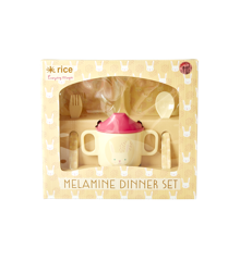 Rice - Melamine Dinner Baby Set in Giftbox - Rabbit Print