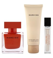 Narciso Rodrigues - Rouge EDP 90 ml + Bodylotion 75 ml + EDP 10 ml - Gavesæt