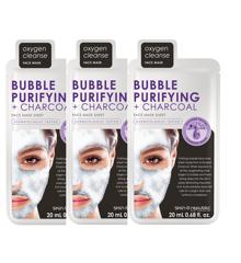 Skin Republic - 3x Bubble Purifying + Charcoal Face Sheet Mask