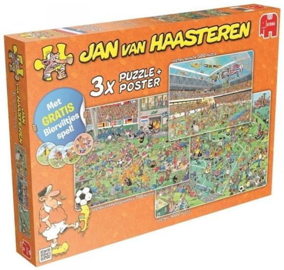 Jan Van Haasteren - 3 x  Puzzel - Football