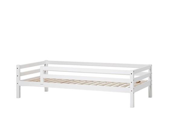 Hoppekids - BASIC Seng med sengehest 90x200 cm - Hvid