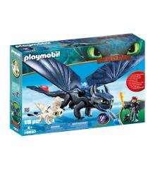 Playmobil - Tandløs og Hikke med Baby-drage (70037)