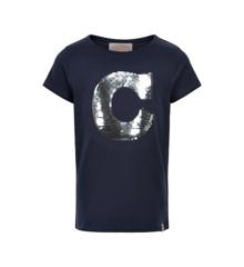 Creamie - T-Shirt w. Sequins