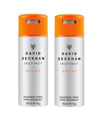 David Beckham - 2x Instinct Sport Deodorant Spray 150 ml
