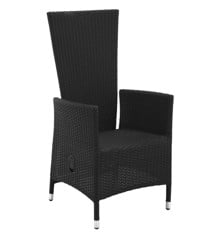 Living Outdoor - Nanna Garden Chair m/pump - Black (629986)