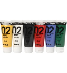 A-Color - Akrylmaling - Mat - (6 x 20 ml)