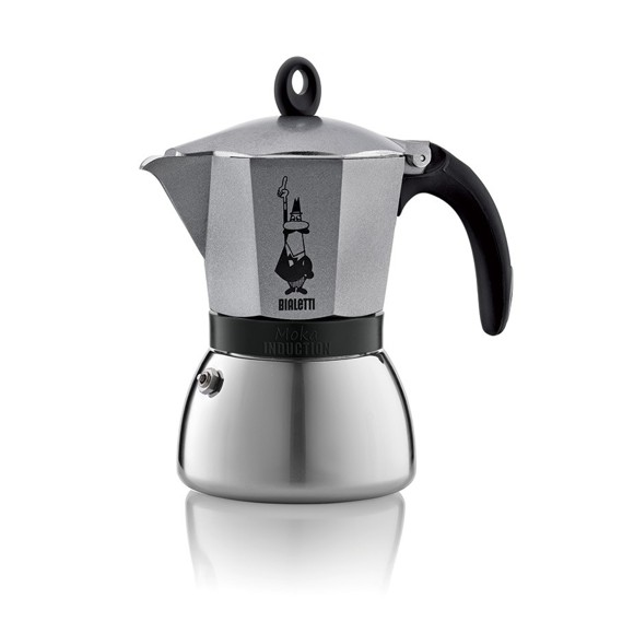 Bialetti - Moka Induktion Antracit 3 Kopper