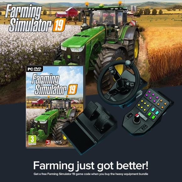 Logitech G Saitek Farming Simulator Controller USB + Farm Sim 19