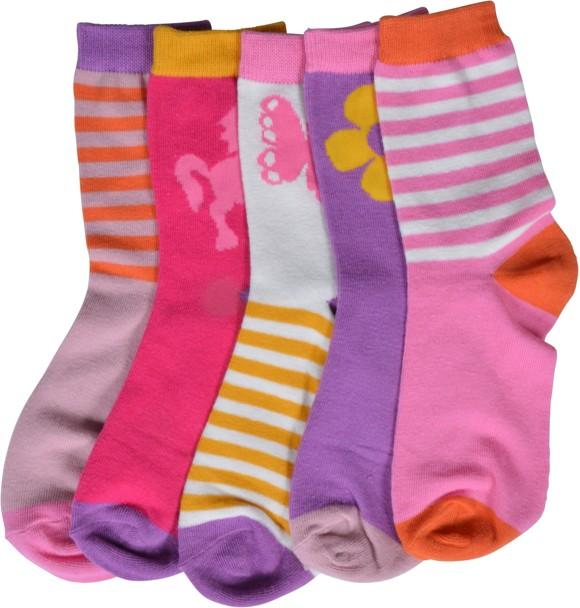 Melton - Numbers 5-pack Girls Socks