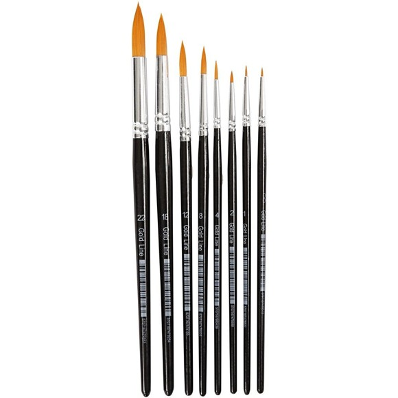 Gold Line Brushes - 8 Stk (10747)
