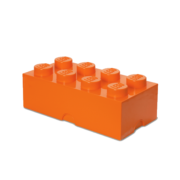 Room Copenhagen - LEGO Opbevaringskasse Brick 8 - Orange