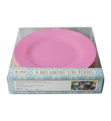 Rice - Melamine Round Side Plates 6 Pcs - Classic Colors