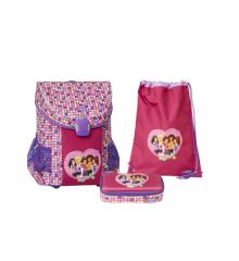 LEGO - EASY School Bag Set (3 pcs.) -  Friends - Confetti (20015-1814)
