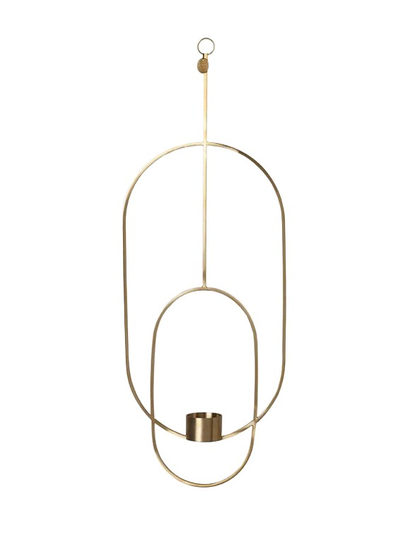 Ferm Living - Haning Lysestage Oval - Messing