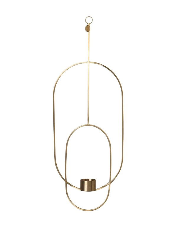 Ferm Living - Haning Tealight Oval - Brass (5749)