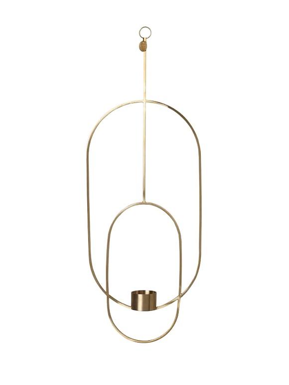 Ferm Living - Haning Tealight Oval - Brass (5749)
