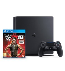 Playstation 4 Slim Console 500GB  - WWE 2K18 (Nordic) Bundle