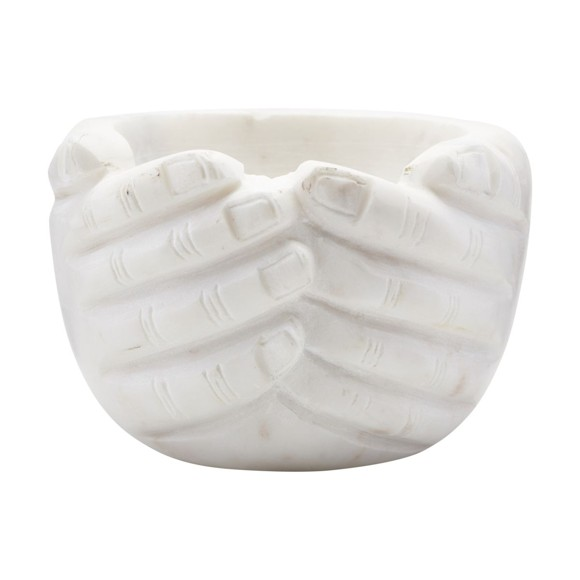 House Doctor - Hands Bowl - Marble (OV0210)