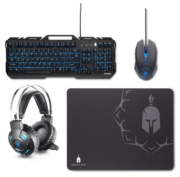 Spartan Gear Hydra Gaming Combo (Keyboard,mouse,headset,mousepad) for PC (EU)