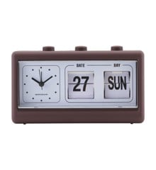 House Doctor - Retro Clock w. Alarm and Calendar - Brown (MGEA0402)
