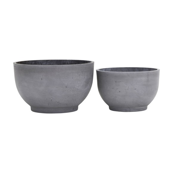 House Doctor - Gard Flowerpot Set Of 2 - Grey (LY0102)