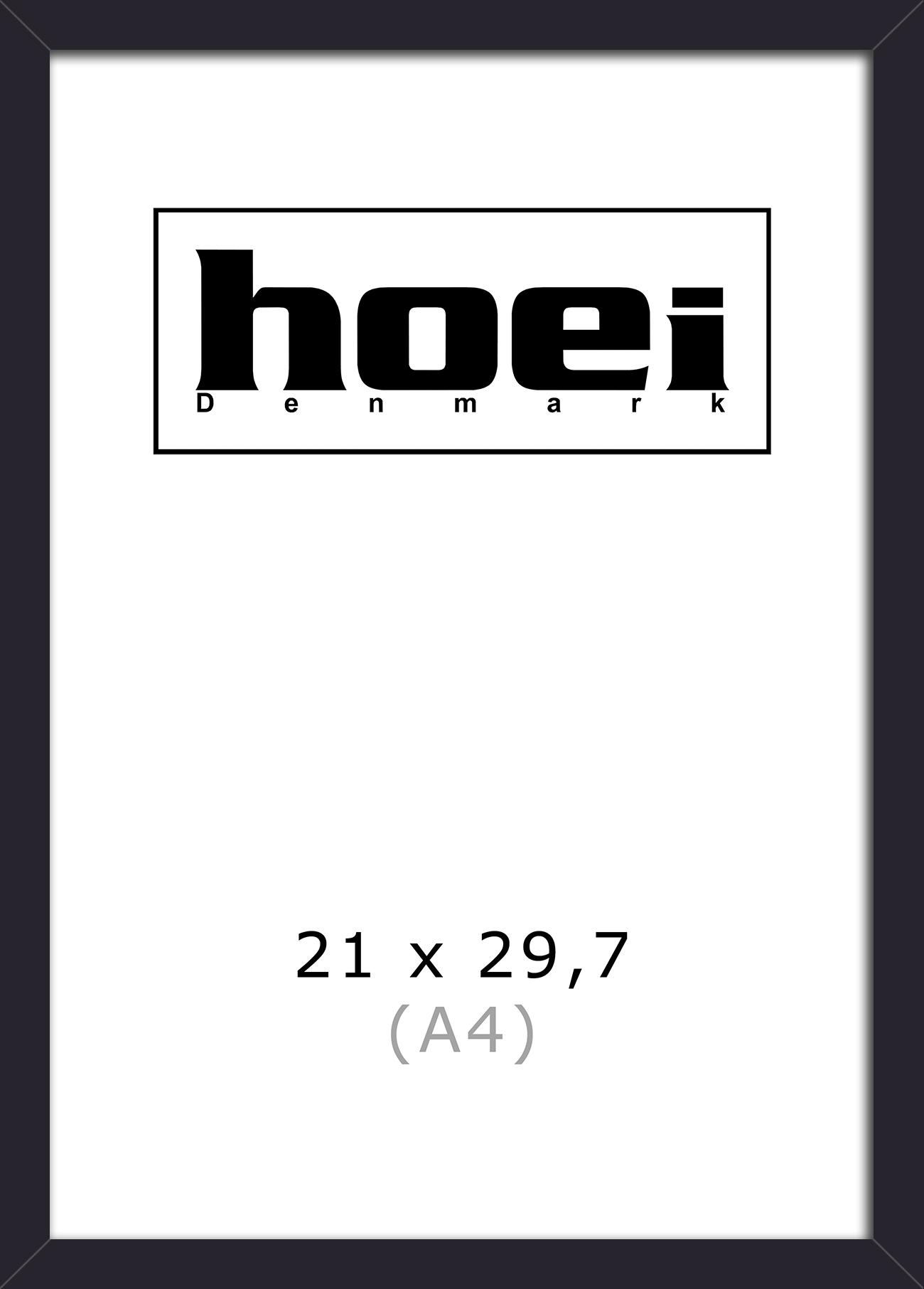 Hoei Denmark - Hoei 111 Frame Glass 21 x 29,7 cm - Black (801110021029)