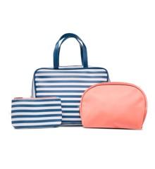 Studio - Striped Toiletry Bag Set - Blue